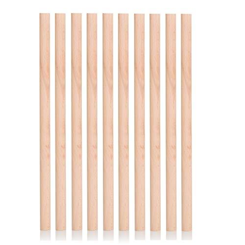 BrilliantBuys 10 x Wooden Dowels, Craft Sticks 10mm thick, 30cm long