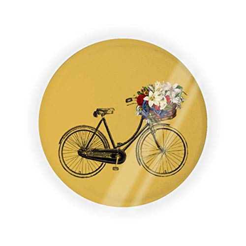 Piccante Senape Caldo Bicicletta Fiore Vuoto Cuscino Aria Puff Box Cuscino Patto Cosmetico Make Up Caso BB CC Liquido Crema Fondazione Contenitore