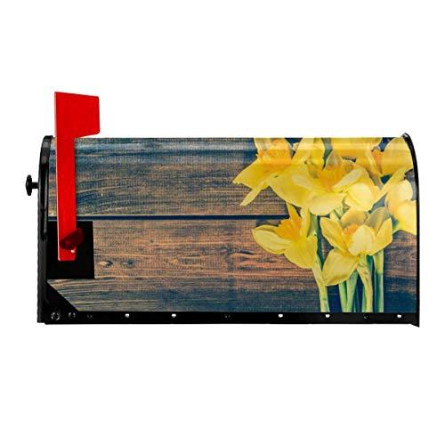 Odeletqweenry Boeket van Daffodils Print Postbus Cover Magnetische Postbus Wraps Brievenbus Doos Cover Standaard Grootte 21 x 18 Inch Waterdichte Canvas Postbus Cover