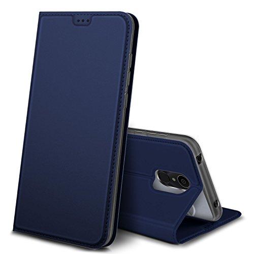 iBetter Alcatel 3C Hülle, Premium Tasche Cover Flip Hülle [Magnetic Closure] [Standfunktion] Schutzhülle Handyhüllen für Alcatel 3C Smartphone (Blau)