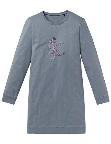 Schiesser Mädchen Sleepshirt 1/1 Nachthemd, Grau (Graublau 209), 164 (Herstellergröße: M)