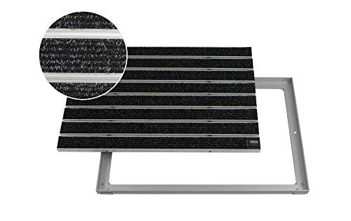 EMCO Entreemat DIPLOMAT Large Rips antraciet 12mm aluminium frame deurmat deurmat deurmat antislipmat 750 x 500 mm antraciet