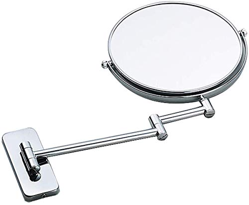 Badkamer wandgemonteerde make-upspiegel 360 graden; Draaibare 8 (of 6) inch dubbelzijdige opvouwbare make-upspiegel, boorwater- en vochtbestendigheid koperen ve