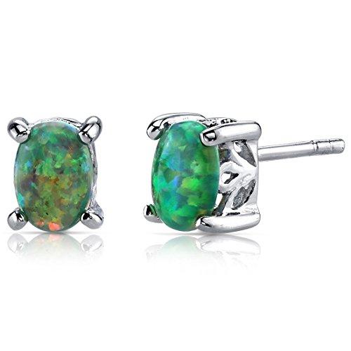 Revoni Damen-Ohrringe 9 k (375) Silber Ovalschliff
