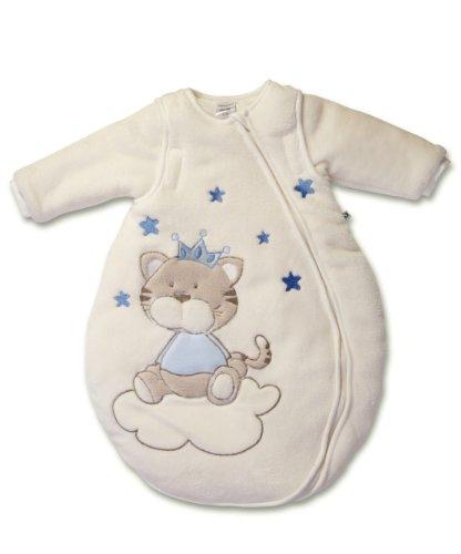Jacky Kuschelfleece-Schlafsack wattiert mit abnehmbaren Ärmeln NOS Saco de dormir, Azul (Blue Buben/Modelle), 86/92 (Tamaño del fabricante:86/92) para Bebés