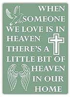 Heaven In Our Home 金属板ブリキ看板警告サイン注意サイン表示パネル情報サイン金属安全サイン
