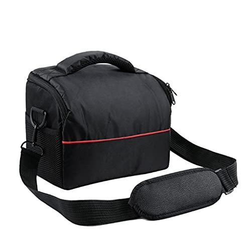 RYSF Bolsa de Hombro de Nailon Impermeable para cámara, Estuche de Transporte para Canon EOS 77D 70D 80D 4000D 2000D 5D Mark IV III 60D 6D 7D Mark II 2 50D (Color : Black, Size : 19x14x25cm)