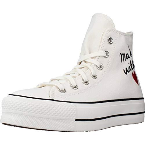 Converse 571119C, Zapatos de Tenis Mujer, White, 39 EU