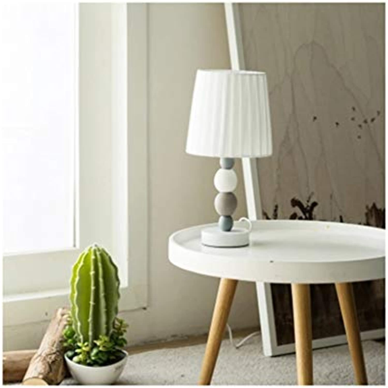 HARDY-YI Tischlampe Nordic Keramik Schlafzimmer Nacht Kreative Schreibtischlampe Amerikanischen Einfache Moderne Mode Leselampe Niedlich Warm -718Schreibtischlampen (Farbe   Remote Control)