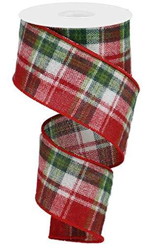 Expressions Plaid Christmas Ribbon 2.5 Inches X 10 Yards