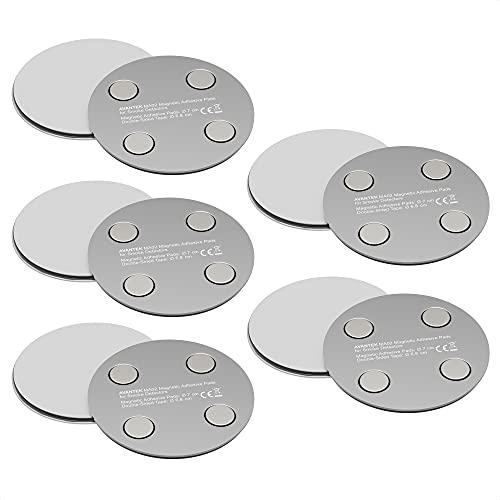[5 Paar] Rauchmelder Magnethalterung Selbstklebende Magnethalter zur einfachen & sicheren Befestigung ohne Bohren und Schrauben, Ø 70mm, MA02
