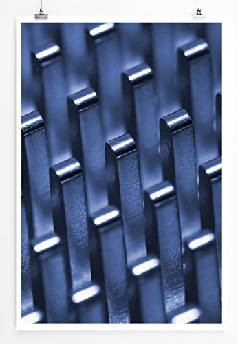 Eau Zone Home Foto - Art foto's - radiator macro-opnames - fotodruk in haarscherpe kwaliteit POSTER 90x60cm