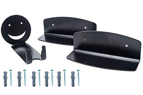 Metal PRO Design Portabiciclette a cremagliera con Supporto da Parete - portabiciclette per Garage/Camera Gancio di stoccaggio per Biciclette al Coperto