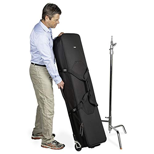 Think Tank Photo Stand Manager 52 Professional Photography & Video Lighting Equipment Roller Bag for Light Stand Bag, Carrying C-Stands, Photo Lighting Bundle Kit, Tripod