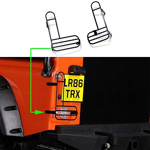 JTAccord Cubierta de protección de la lámpara de Marcha atrás de la Pantalla Trasera para 1/10 RC Crawler Car Defender Traxxas Trx4,1 Par Pantalla Protectora de Metal
