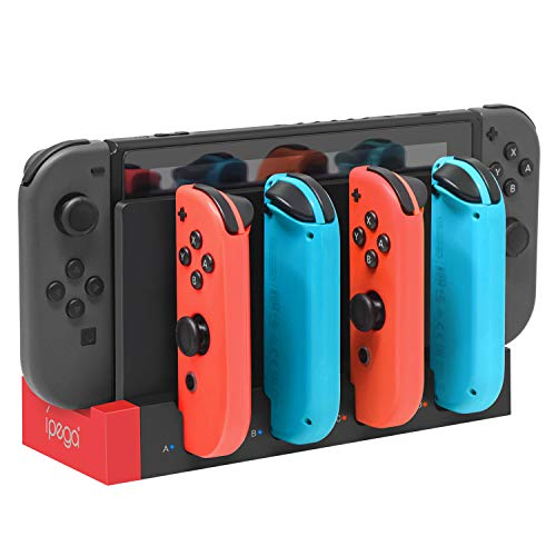 FYOUNG Charger for Nintendo Switch Joy Cons Controllers, Charging Dock Base Station for Nintendo Switch Joy-Con with Indicator, Charger Station Stand for 4 Joy Cons