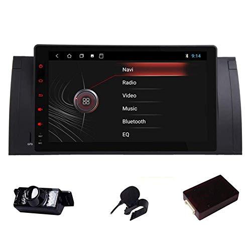 Android 9 pulgadas con ajuste E39 1995-2002 Estéreo para automóvil DAB (integrado) Autoradio 2GB RAM 80G ROM Quad-Core Car Indash DVD GPS Bluetooth USB FM Unidad principal Soporte Control del volant