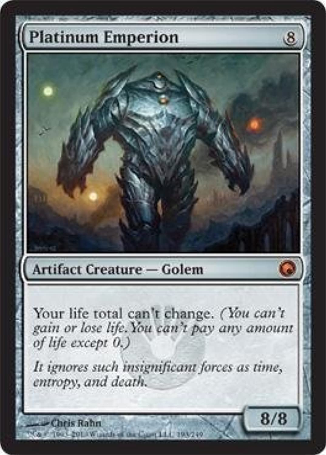 Magic  the Gathering  Platinum Emperion  Scars of Mirrodin by Wizards of the Coast