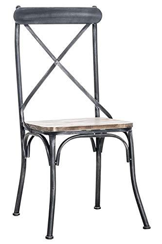 CLP Silla De Comedor Bromley con Asiento De Madera I Silla Comedor con Estructura De Metal I Silla R