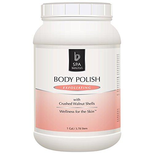 Bon Vital' Exfoliating Body Polish, Body Scrub with Walnut Shells to Repair Dry Skin, Moisturizer Hydrates Skin, Added Aromatherapy for Calming and Stress Relief Sensations, 1 Gallon Jar
