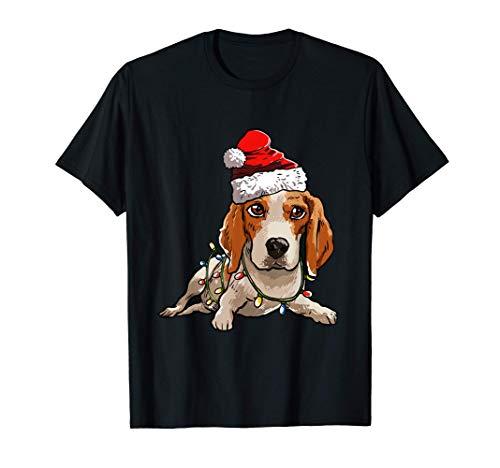 Beagle Navidad Regalo X-Mas Disfraz Amor De Perro Camiseta