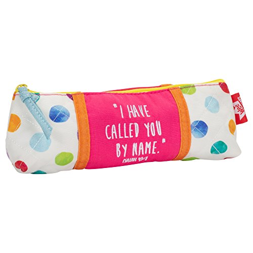 Called Watercolor Dots Small Quilted Zipper Accessory Pencil Case Pouch