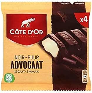 Belgian Eggnog Chocolate Candybar | Côte d'Or | Dark 'Advocaat' Eggnog Taste 4 x 47.5g | Total Weight 6.7 ounce