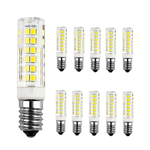 Lot de 10 Ampoule LED 7W E14, Blanc Froid 6000K, 60W équivalent ampoules à incandescence, AC220-240V, 680LM, 360° angle de faisceau, Non-dimmable