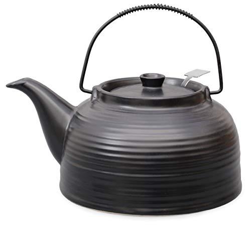 Teekanne/Kanne Nelly 1,5l schwarz mit Stahlsieb (Kanne und Deckel schwarz)