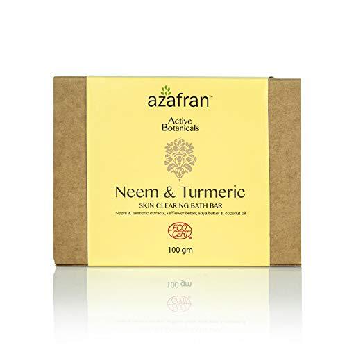 Azafran Organics Neem and Turmeric Clear Skin Organic Soap