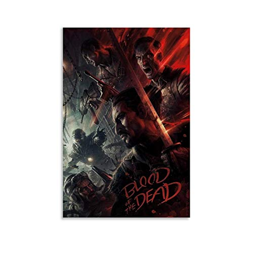 NINGKE Call of Duty Black Ops 4 Blood of The Dead Zombies Art Poster Decorative Painting Canvas Wall Art Living Room Posters Bedroom Painting 16x24inch(40x60cm)