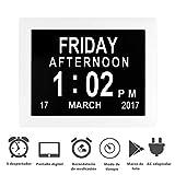 Febelle Marco Reloj Digital Calendario para Fotos Vídeos música para...