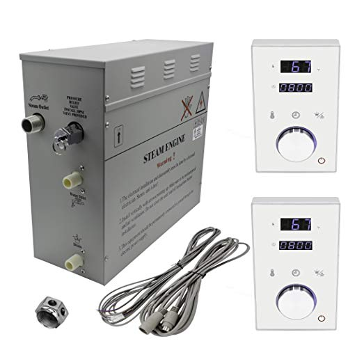 Amazing Deal Superior Steam Bath Generator 6kW DeLuxe. Black or White Keypads (6kW, White Dual Keypa...