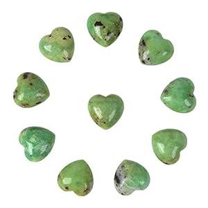 Australian Chrysoprase Heart Carved Gemstone
