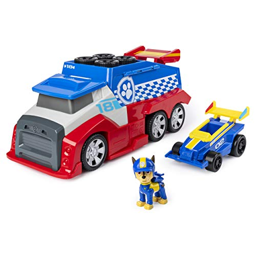 PAW PATROL 6054505 Vehicle with Sounds, for Kids Aged 3 Years and Over Ready, Race, Rescue Mobile Pit Stop Team Fahrzeug mit Geräuschen, für Kinder ab 3 Jahren, Mehrfarbig