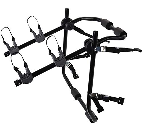 Motorup America Deluxe Bike Rack for Car Mount Carrier - Bicycle Racks for Auto Trunk Fits Most Car Sedans, Hatchbacks, Minivans and SUV