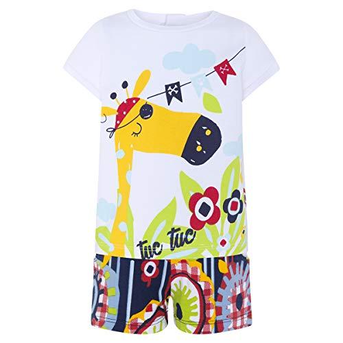 Tuc Tuc Camiseta+Short Punto NIÑA Pirates Conjunto de Ropa, Rojo (Rojo 3), 74 (Tamaño del Fabricante:9M) para Bebés