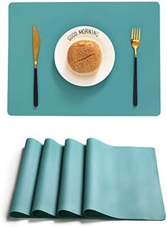 GSERA Silicone Placemats Set of 4 Heat Resistant Anti Skid Reusable Kids Dining Placemats Countertop product image