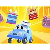 クリスマス:カーシティーにプレゼントが降ってきた!?/レースカーとトラクター!/トラクターが輸送車の上に落ちる/ゴミとアイス