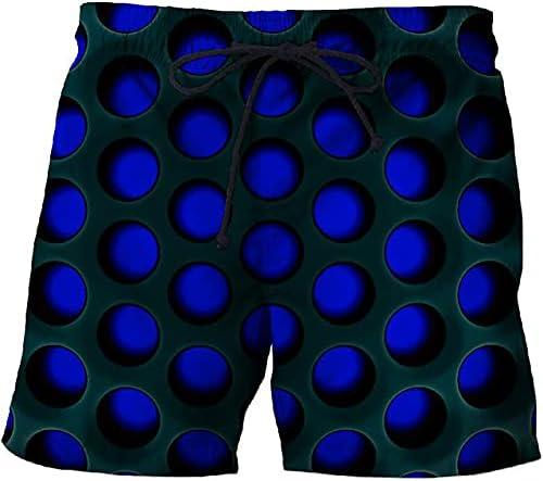 JNCJFS Fashion Geometric Pattern 3D Printing Beach Shorts Men Board Shorts Anime Shorts Quick-Drying Street Shorts