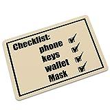 """CMRUI Door Mat Interesting Remind Checklist Phone Keys Wallet Mask Don't Forget Indoor/Outdoor Floor Mat Non-Slip Doormat - 23.6""""(L) x 15.7""""(W), 3/16 Thickness"""