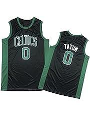 Céltics 0# tátum basketbal jerseys voor heren en dames, borduurwerk, mesh, sneldrogend verfrissend S-XXL