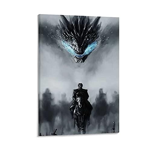 HAPPOW Póster de la serie de televisión de Game of Thrones 02 Wall Art Picture Moderno Familiar Dormitorio Decoración Posters 20 x 30 cm