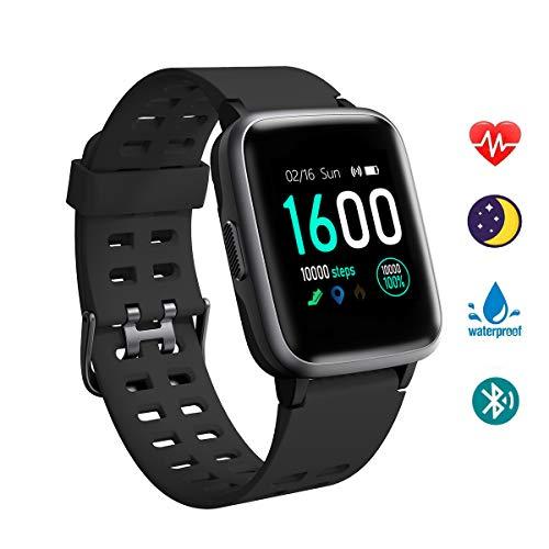 Smartwatch Donna Orologio Fitness Uomo, YAGALA Cardiofrequenzimetro da Polso Contapassi Fitness Tracker, Smart Watch IP68 Impermeabile Orologio Sporti