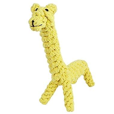 GOCooper Giraffe Puppy Chew Dog Toys Cotton Dental Teaser Rope Teeth Cleanning Toy, Large