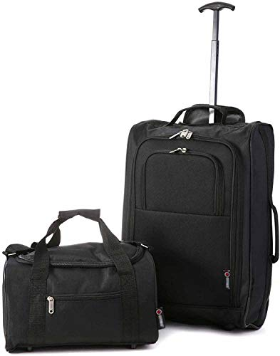 Maleta de cabina y la segunda bolsa de transporte,Noir (Black)