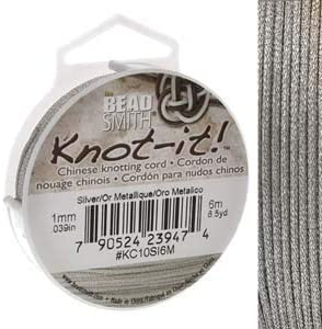 BeadSmith Chinese Knotting Cord 40% OFF Cheap Sale Thread 1 Meter mm Silv Metalic 6 Clearance SALE! Limited time!