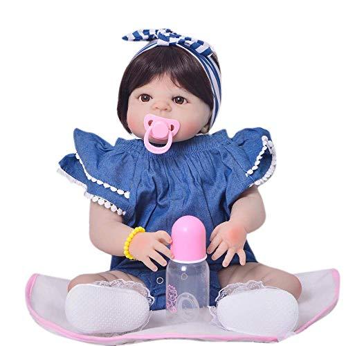 Bebê Reborn de Silicone - Boneca Bebê Reborn Menina Realista