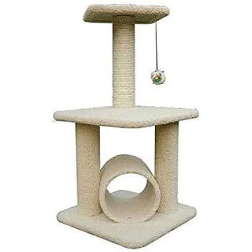FTFDTMY Pet Cat Climbing Frame Medium Cat Tree Cat Jumping Platform Plush Cat Toy,cat Tree Cat Jumping Table Plush Cat Toy,Beige (Color : Beige)