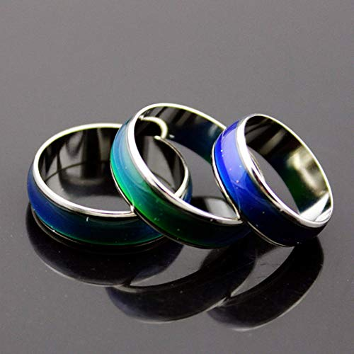 CTDMMJ Liebhaber Ring Edelstahl Farbwechsel Stimmung Ringe Gefühl/Emotion Temperatur Ring Smart Schmuck Geschenke-8_Gefühlsring
